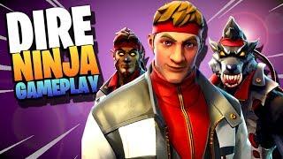 EPIC *WEREWOLF* NINJA!!! | Dire Mythic Ninja | Fortnite Save the World Gameplay Hero Review