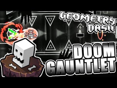 5 DEMONS IN ONE VIDEO ~ Geometry Dash 2.11 DOOM GAUNTLET COMPLETE