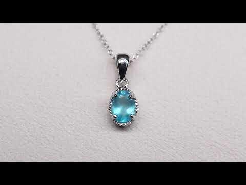 電光藍磷灰石墜[ DCT Collection 小資珠寶 ]
