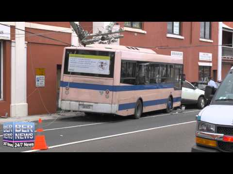 Bus Accident, East Broadway,  March 11, 2015