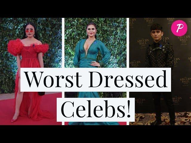 10 Worst Dressed Celebs! ABS CBN BALL 2018