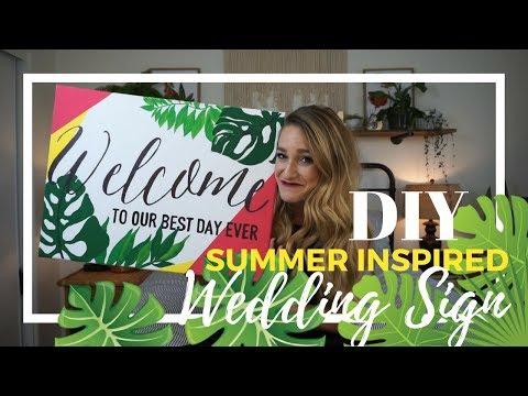 DIY Summer Inspired Wedding Sign