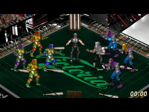 Ninja Turtles vs Shredder and Foot Soldier Fire Pro Wrestling World