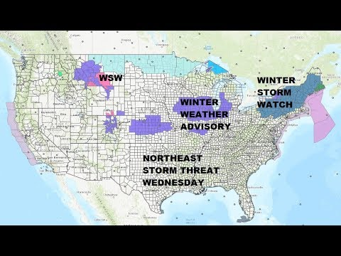 WINTER STORM WATCH NORTHEAST FOR WEDNESDAY 02072018 AS NEXT WEATHER SYSTEM APPROACHES