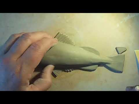 Making A Small Clay Fish, Hand Modeled.