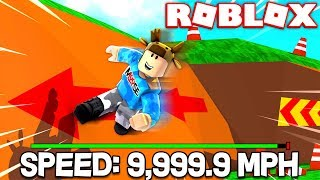ROBLOX PARKOUR SIMULATOR! *MAXIMUM SPEED! 9,999 MPH*