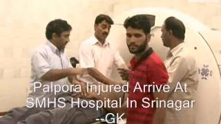 palpora injured arrive at smhs hospital in srinagar