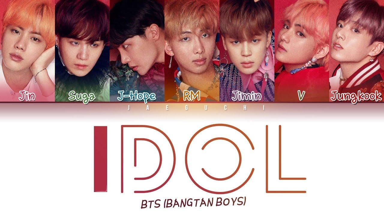 Bts Idol Color Coded Lyrics Eng Rom Han