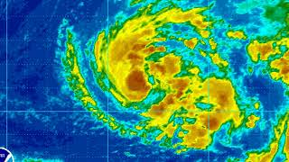 tropical storm ophelia on october 10 2017