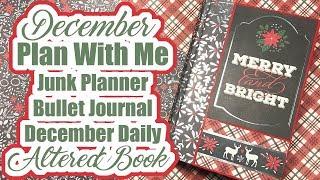December Plan With Me - Junk Planner | Bullet Journal | December Daily Altered Book