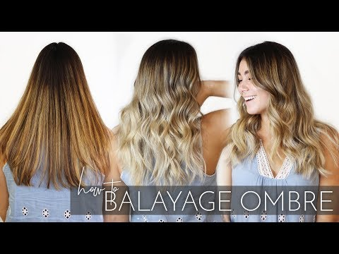 How To Balayage Ombre Brunette Hair With My Foilayage Technique | Easy Tutorial!