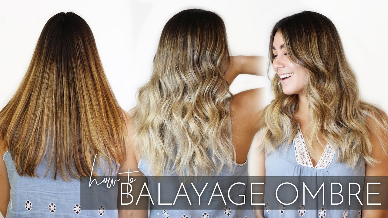 Ombre Look How To Balayage Ombre Brunette Hair With My Foilayage Technique Easy Tutorial