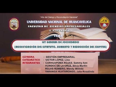 MODIFICACIÓN DEL ESTATUTO - AUMENTO Y REDUCCIÓN DEL CAPITAL - LEY 26887