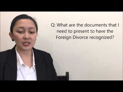 RECOGNITION OF FOREIGN DIVORCE IN THE PHILIPPINES Part 1