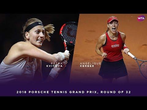 Petra Kvitova vs. Angelique Kerber | 2018 Porsche Tennis Grand Prix First Round | WTA Highlights