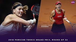 Petra Kvitova vs. Angelique Kerber | 2018 Porsche Tennis Grand Prix First Round | WTA Highlights