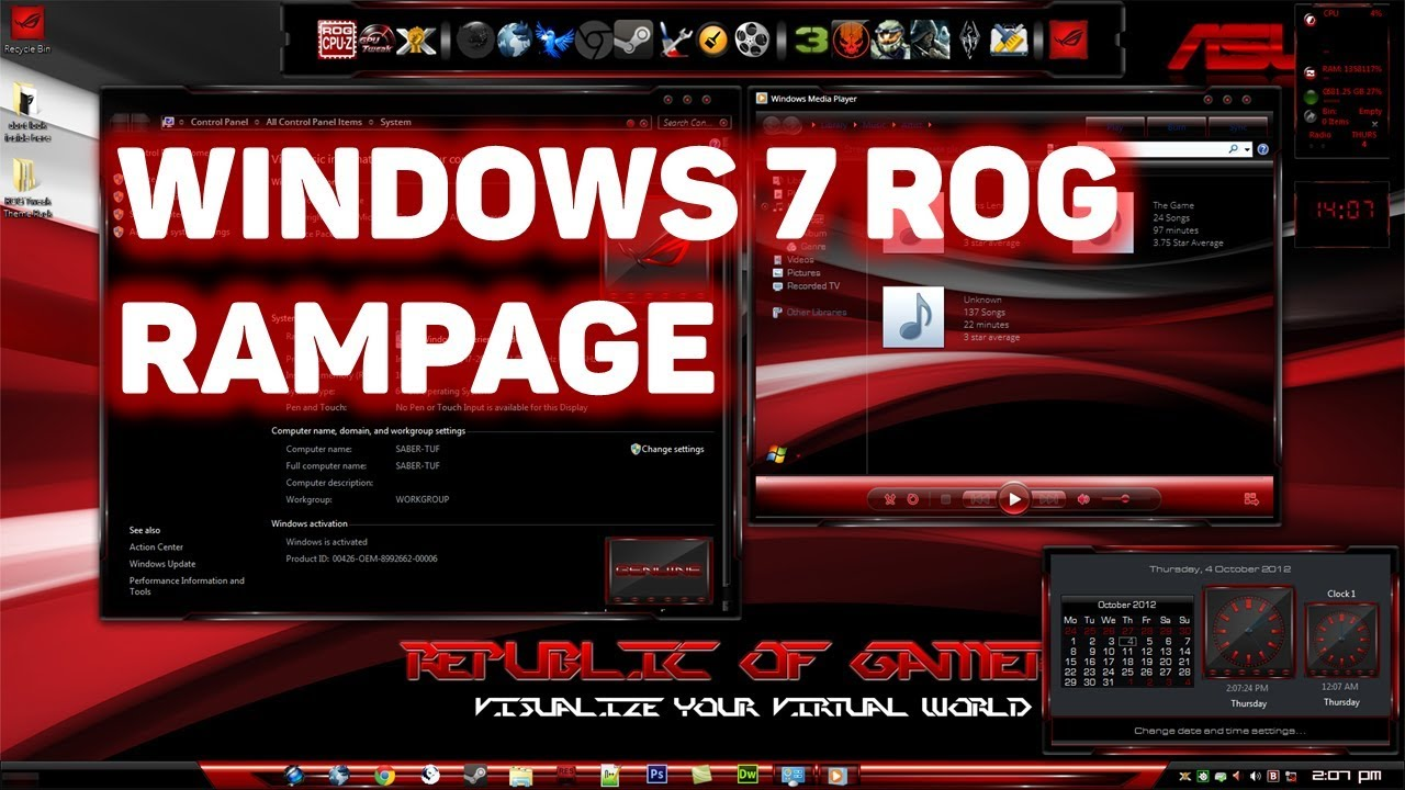 Windows 7 ROG RAMPAGE Edition 64bit Free Download and Full Review