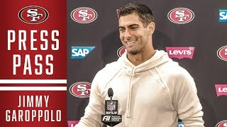 Jimmy Garoppolo Talks Comeback Win vs Arizona | 49ers