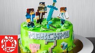 Торт Майнкрафт на День Рождения мальчику. Cake Minecraft