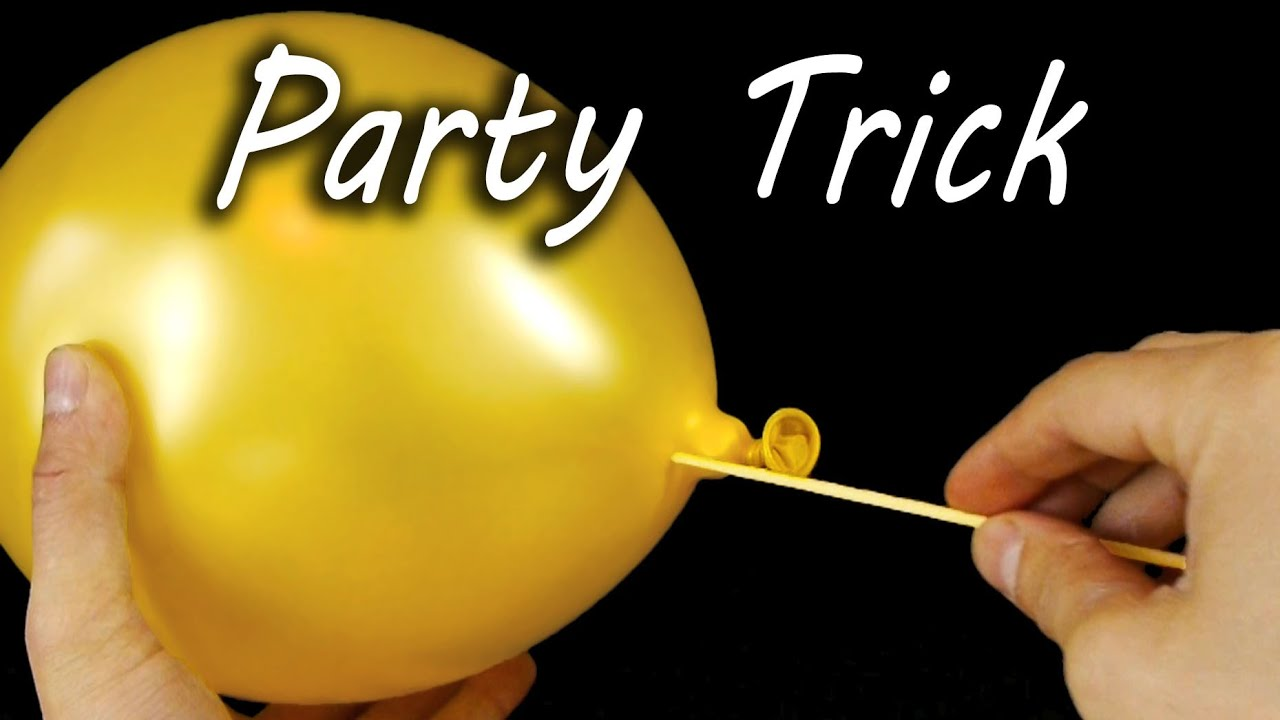 Amazing Balloon Skewer Party Trick