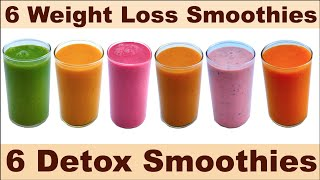 This video is about 6 weight loss smoothies | detox healthy mix fruit breakfast || ||...