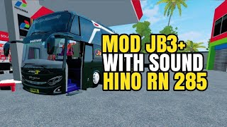 UPDATE MOD JB3 TERBARUSOUND HINO RN 285 BONUS LIVERY BUSSID V2 9