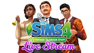 The Sims 4 | P1 | Vintage Glamour Stuff Pack | Let's Look At Create A Sim - Fema