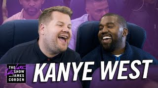 James corden is desperate for a ride back to los angeles and connects with kanye west, who traveling his sunday service choir by airplane. fly along ...