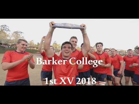 Barker College 1st XV CAS Premiers Highlights 2018