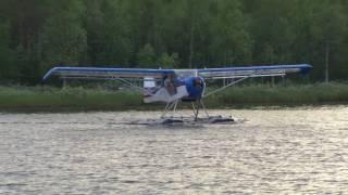 Kitfox MK3 SE-YSS with Full-Lotus floats on water