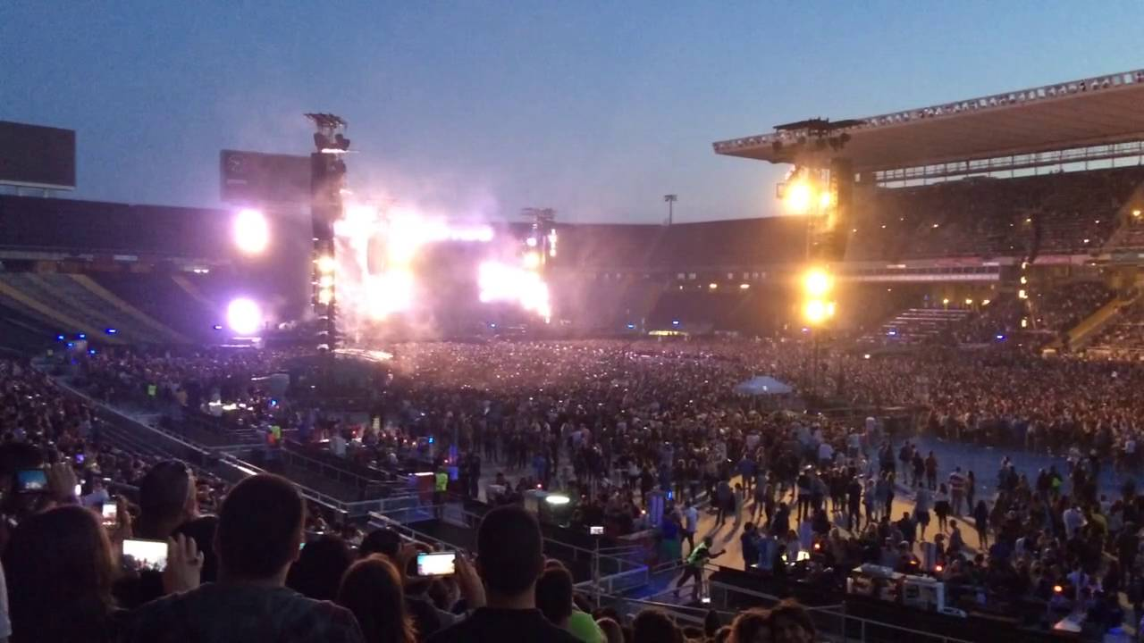 Concierto De Coldplay Barcelona 2016 Youtube