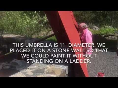 How to Paint a Faded Market Umbrella
