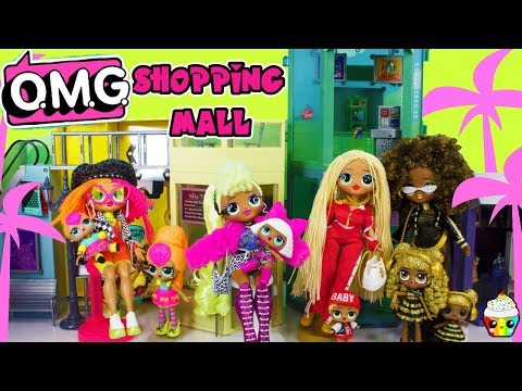 LOL OMG Fashion Dolls Shopping Mall Unboxing Full Collection