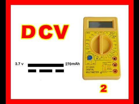 Curso de electrónica uso multimetro corriente directa dcv 2