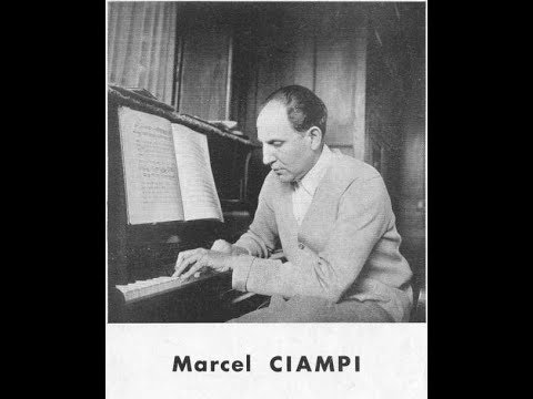 Marcel Ciampi plays his Etude in B minor (1931)