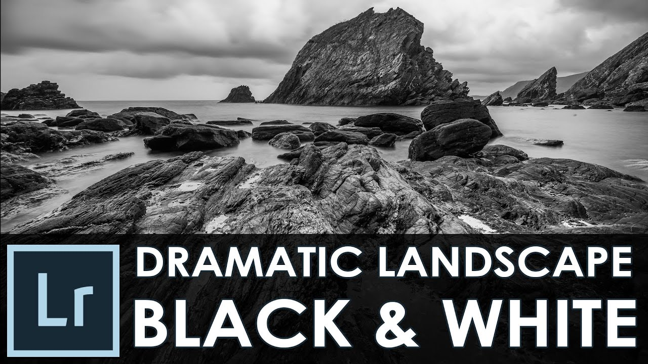 Dramatic black and white landscape photography lightroom tutorial episode 12