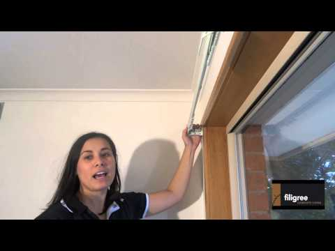 How to install a curtain track