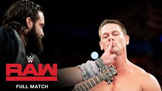 FULL MATCH - John Cena vs. Elias: Raw, Dec. 25, 2017