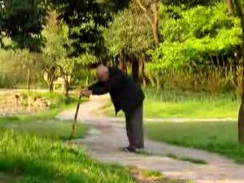 elderly chinese people exercising in Shanghai - IV