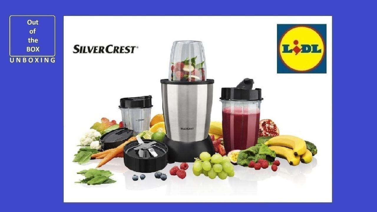 Silvercrest Smoothie Mixer Pro Ssmp 900 B1 Unboxing Li - Silvercrest Lidl Blender