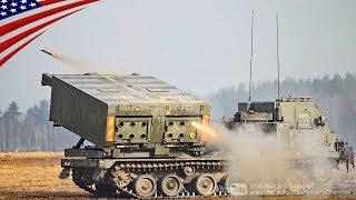 英陸軍MLRS・M28A1短縮射程訓練ロケットの発射 thumbnail