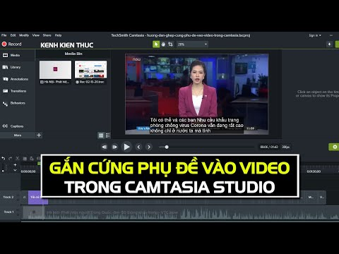"""Hướng dẫn ghép """"CỨNG"""" phụ đề vào video trong Camtasia"""