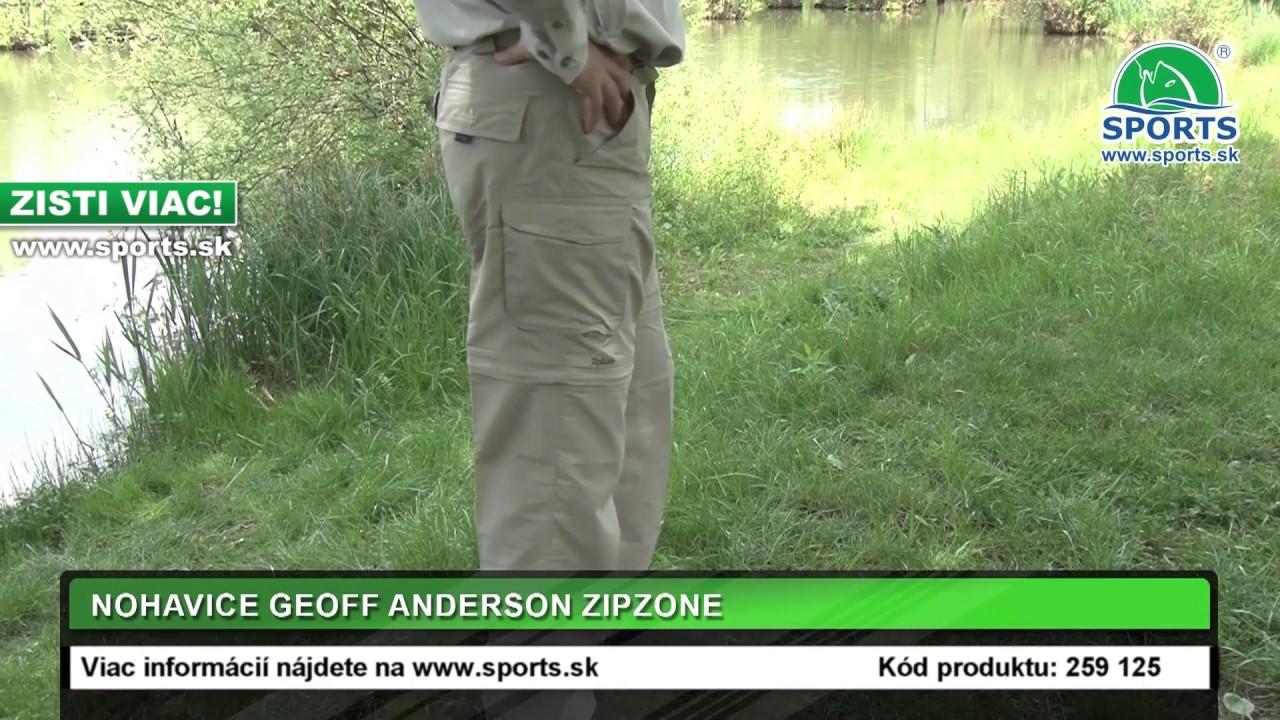 d4e63e325 ZIP ZONE nohavice aj kraťasy GEOFF Anderson pieskové | Rybárske potreby  SPORTS