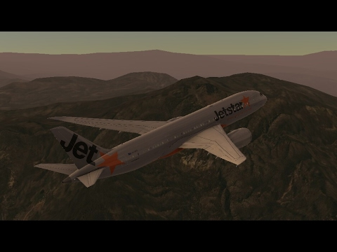 Flight Simulators broadcast.  Jet Star Airlines Boeing-787-8/Takeoff From Ontario IntI Airport.