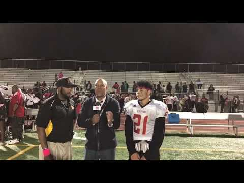 INTERVIEWS - ETIWANDA HS COACH WASH & RB LAWRENCE STARKS (5 TD'S) HSPN 'IMPACT PLAYER OF THE GAME'