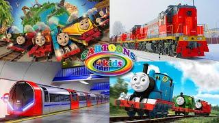 Поезда для детей три серии подряд. Cборник про поезда, цвета и паровозики для малышей