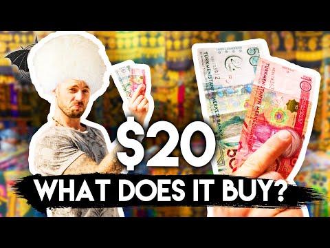 Spending $20 at a Turkmenistan Market