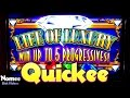 Life of Luxury Progressive Slot Machine - Free Spins Bonus - Max Bet