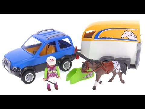 Playmobil Suv With Horse Trailer Review Youtube