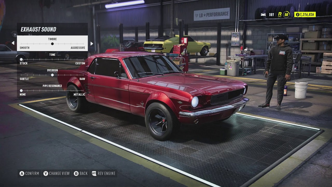 Nfs Heat 1965 Ford Mustang Customization Youtube